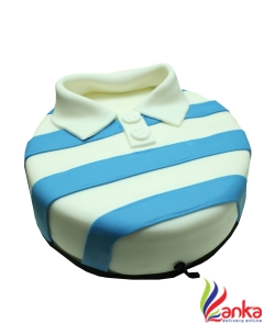 Blue Striped T-shirt Fathers day cake