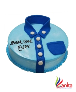 Blue Shirt Fathers day cake