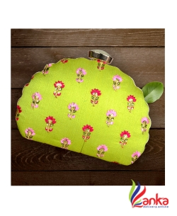 Machine Embroidery Clutches Light Green