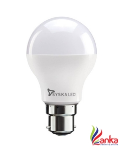 Syska Led Lights 9 W Standard B22 LED Bulb  (White)