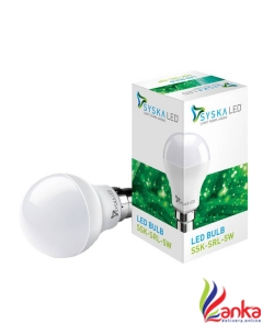 Syska Led Lights 5 W Standard B22 LED Bulb  (White)