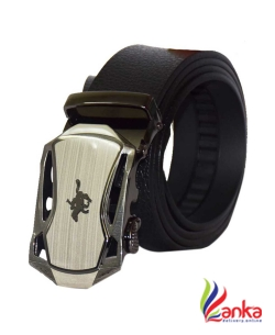 Edifier Men Evening, Party, Formal, Casual Black Genuine Leather Belt