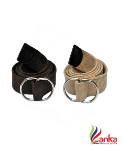 AARIP Boys Evening, Party, Formal, Casual Brown, Beige Canvas, Fabric Belt
