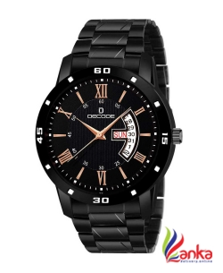 Decode All Black Analog Watch - For Men