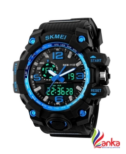 Awex SKMEI Sports Multifunctional Dual Time Digital Blue Dial Mens Watch  Analog-Digital Watch - For Men