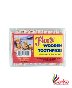 Flora Wooden Tooth Picks 100S