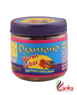 Diamond Worms Cubes Fish Food 30G
