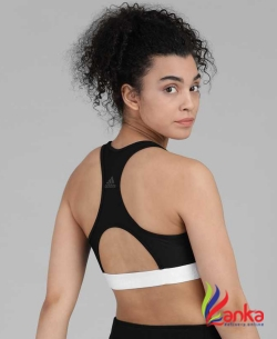 ADIDAS Women Sports Lightly Padded Bra  (Black)