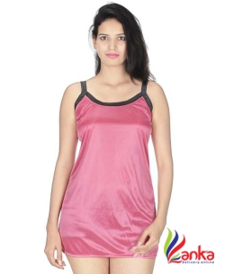 Kanika Women Nighty  (Pink, Black)1