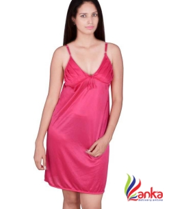 Kanika Women Nighty  (Pink)