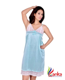 Kanika Women Nighty  (Blue)1