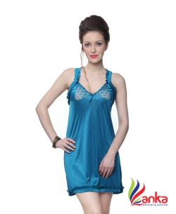 Kanika Women Nighty  (Blue)