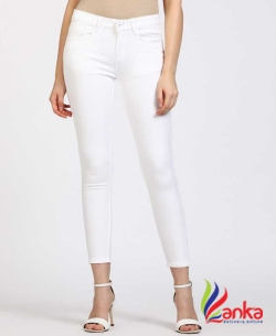 Jealous 21 Slim Women White Jeansc
